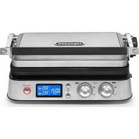 Gratar electric De'Longhi CGH1020D, 1800 W, 6 Programe, Display LED, Termostat, Placi detasabile, Inox