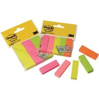 Marcaje indexare hartie 3M Post-It neon 5 col x 100 buc (13K042A)