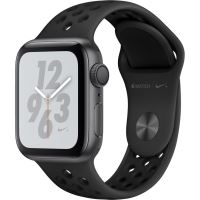 Apple Watch Nike+ 4, GPS, Carcasa Space Grey Aluminium 40mm, Anthracite/Black Nike Sport Band
