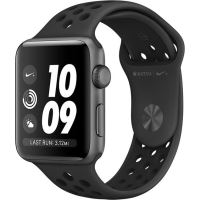 Apple Watch Nike+ 3, GPS, Carcasa Space Grey Aluminium 38mm, Anthracite/Black Nike Sport Band