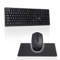 Kit Tastatura wireless + Mouse Art Ak-48a, USB + Pad, Negru