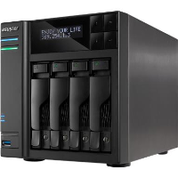 Network Attached Storage Asustor AS6204T, Procesor Intel® Celeron® Quad Core™ N3150 1.60GHz, 4GB SO-DIMM DDR3L, 4-bay, USB 3.0 & eSATA, 2 x GbE, Tower