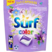 Surf Color Capsule do prania 2in1 Iris & Spring Rose 14szt