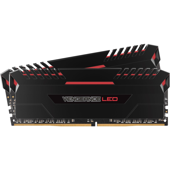 Memorie RAM DIMM Corsair Vengeance LED 16GB (2x8GB), DDR4 3000MHz, CL15, 1.35V, red LED, XMP 2.0, CMU16GX4M2C3000C15R