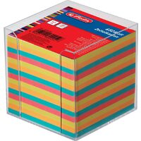 Bloc notite color Herlitz, 9x9x9 cm, 650 file cu suport
