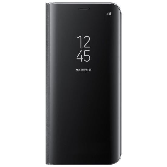 Husa de protectie Samsung Clear View Standing Cover pentru Galaxy S8 Plus, Black