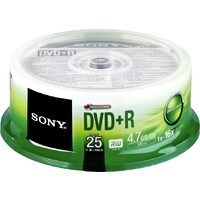 Medii de stocare sony Sony DVD + R 4.7GB 16X CAKE 25 PCS (25DPR47SP)