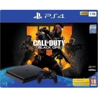 PlayStation Slim 1TB + 4 Call of Duty Negre Ops IV
