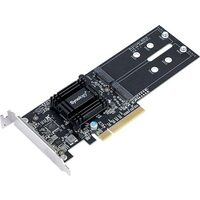 Synology Dual M.2 (2280/2260/2242) SSD adapter card for better SSD caching, PCIe 2.0 x8, Low Profile